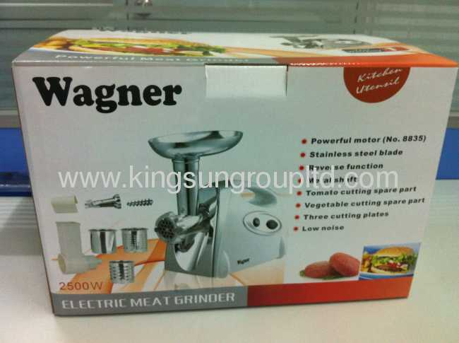 Tomato strainer and professional meat grinder