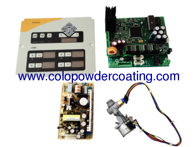 Box Feed two controllers manual powder coating mahine colo-flex-v-2