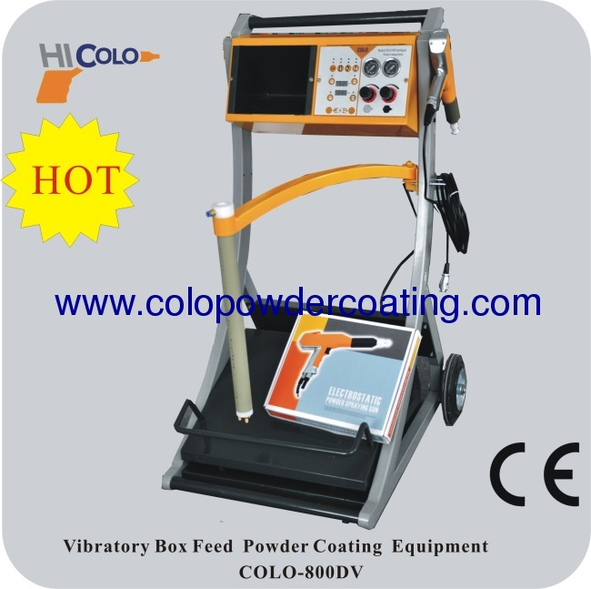 Box Feed two controllers Intelligent manual powder coating mahine with two powder guns colo-800D-V-2