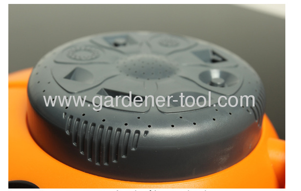 Plastic Garden Water Sprinkler With 8 Pattern Dial For Yard Irrigation