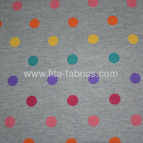 100% cotton printed jersey fabric and dyed fabric