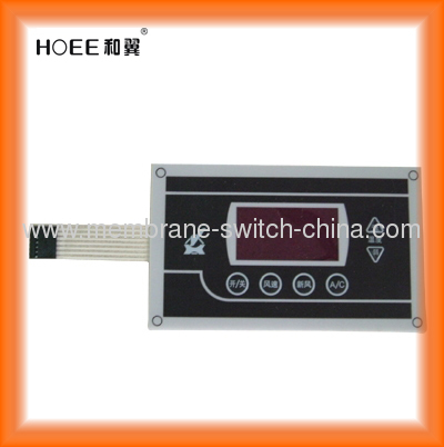 waterproof membrane switch panel with clear or tinted LCD window