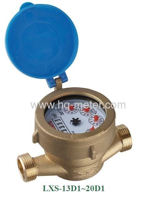 Single jet wet type Vane Wheel water meter