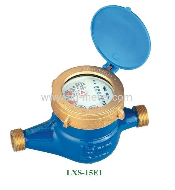 Multi-jet wet type Vane Wheel water meter(Brass or iron,Plastic body)