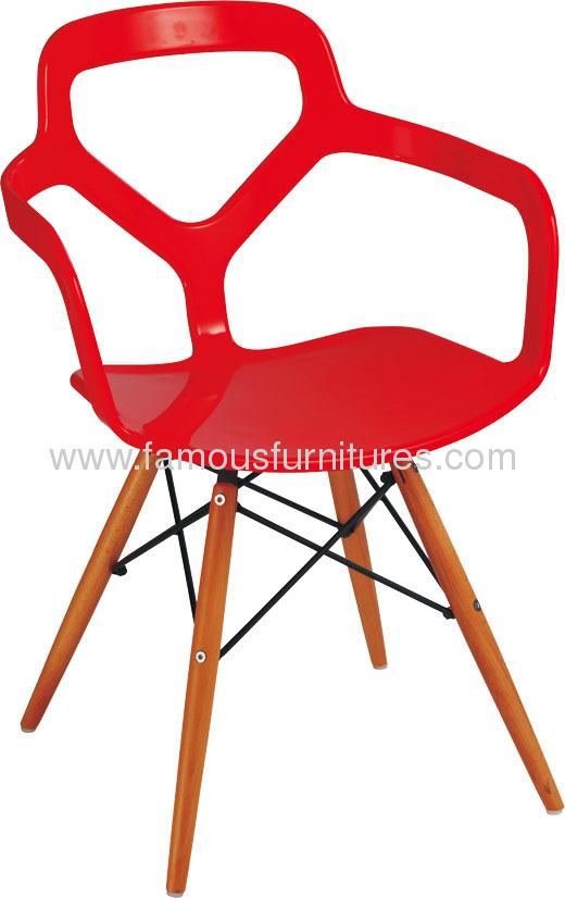 Fashion cutout PP arm Chair