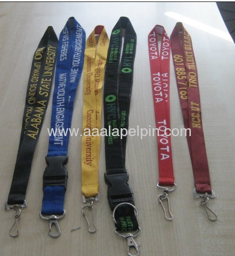 Black fashion embroidery lanyards for promotion gift