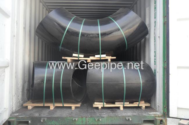 ASME B 16.9 carbon steel butt welded long radius elbow