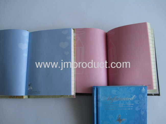 colorful hardcover notebook in box