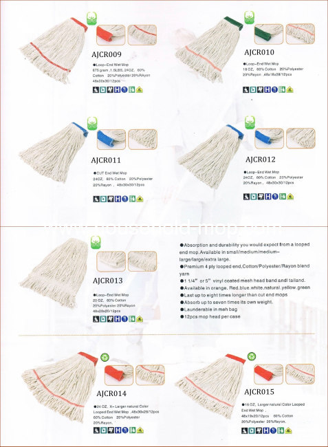 High Quality White 4 Ply-Yarn Cotton Floor Cleaning Mop