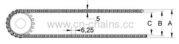 06-401 modular belt conveyor belt