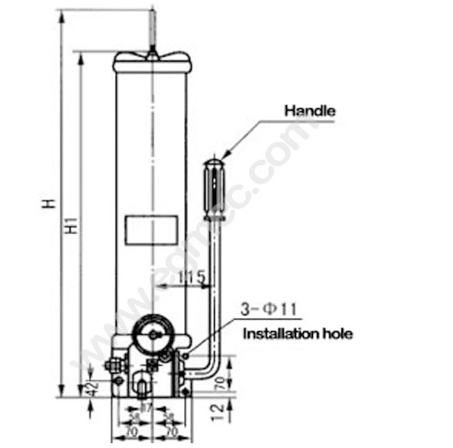 SRB High Pressure Lubrication Hand Operated Grease Oil Pump