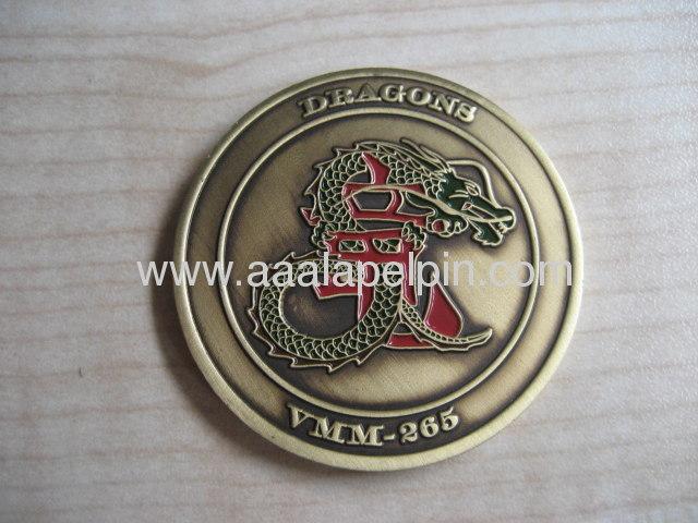 high quality Die struck enamel badge, brass lapel pin