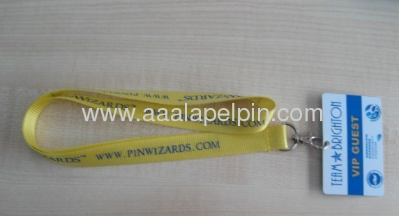 Fashion Nylon lanyards with metal hook and Plastic card