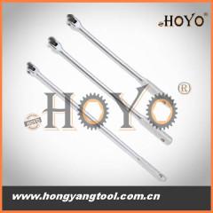 Flexible socket wrench, F handle