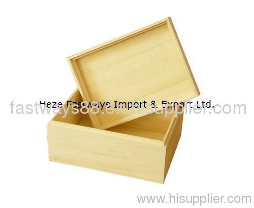 supply unfinished wooden box