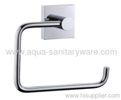 Square Brass Toilet Roll Holder