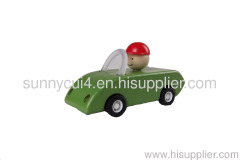 pull-back motor - open car toy wooden toy