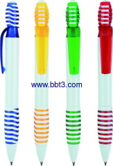 Promotional plastic click ballpen with colorful trims