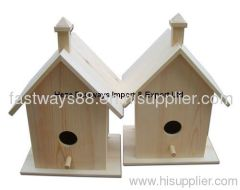 supply unfinished wooden bird house