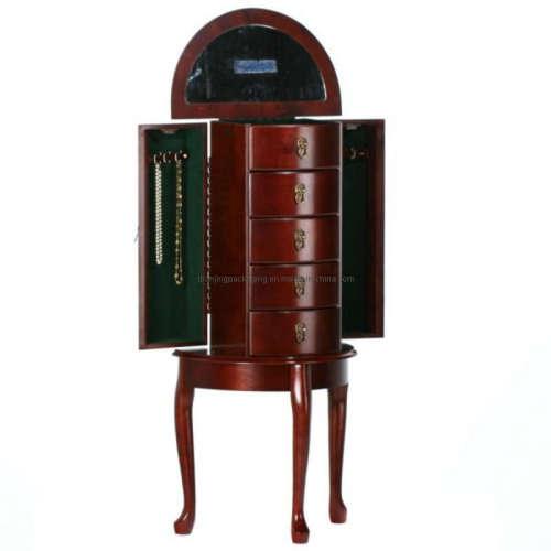 Queen Victoria Cherry Wooden Jewelry Box Case Armoire
