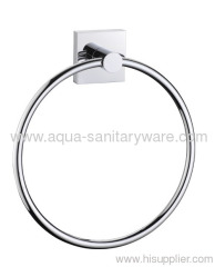 Square Brass Towel Ring
