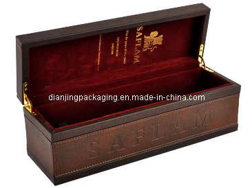 Vintage Luxury Old Wooden Wine Box Set