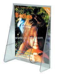Counter / Wall clear plastic literature holder