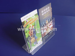 Acrylic display holder for 1/3 A4 pamphlets