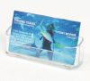 Plastic business card display holder
