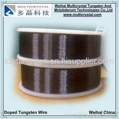 Tungsten wire for lamp filament