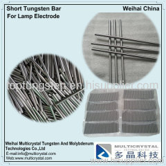 Tungsten rod for lamp and welding electrode