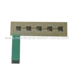 custom made membrane keypads circuit part with metal dome