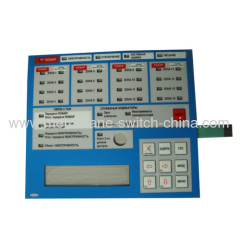 good touch feeling poly dome membrane keypad with 3M back adhesive