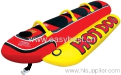 Kwik Tek 3-Tube 3-Person Inflatable Hot Dog