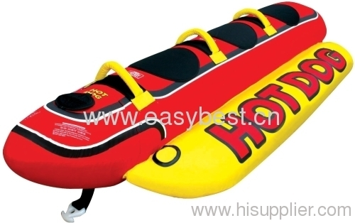 Kwik Tek 3-Tube, 3-Person Inflatable Hot Dog