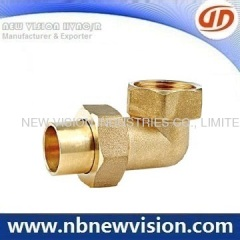 Brass Elbow with Brass Nut Fittings