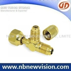 Brass Tee Fitting with Nut