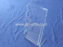 Counter clear acrylic leaflets display holder