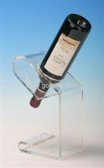 Clear acrylic thick wine display holder