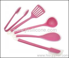 Silicone kitchen utensils in kitchenware