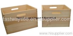 cheap wooden storage crate