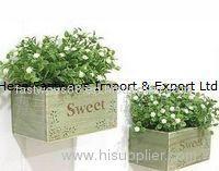 vintage wooden herb crate