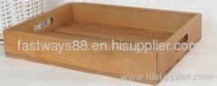 wooden hamper- crate tray