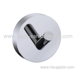 Round Single Brass Robe Hook