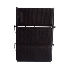 "6.5"" Line Array With 3 Wooden Painted Speaker Boxes"