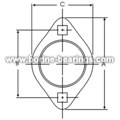 2-Bolt Hole Self-Aligning Mounting Flanges