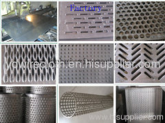 Perforated metal sheet factory