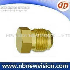 Brass Plug Flare Fitting
