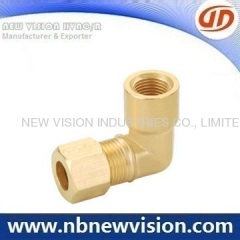Brass Elbow with Fitting