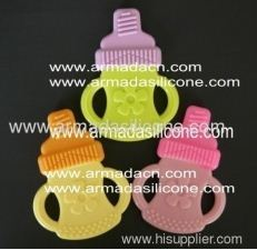 bitone and fashion silicone baby teether